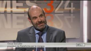 TV 3 interviews Oscar Escuder from Plataforma per la Llengua