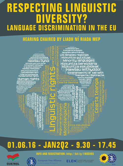"ELEN Hearing. ""Respecting linguistic diversity? Language Discrimination in the European Union."""