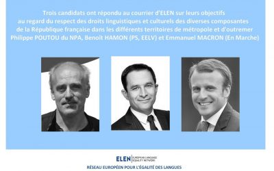Présidentielles 2017 : Le Réseau Européen pour l'Égalité des Langues souligne le risque de repli national et de rejet de la diversité.