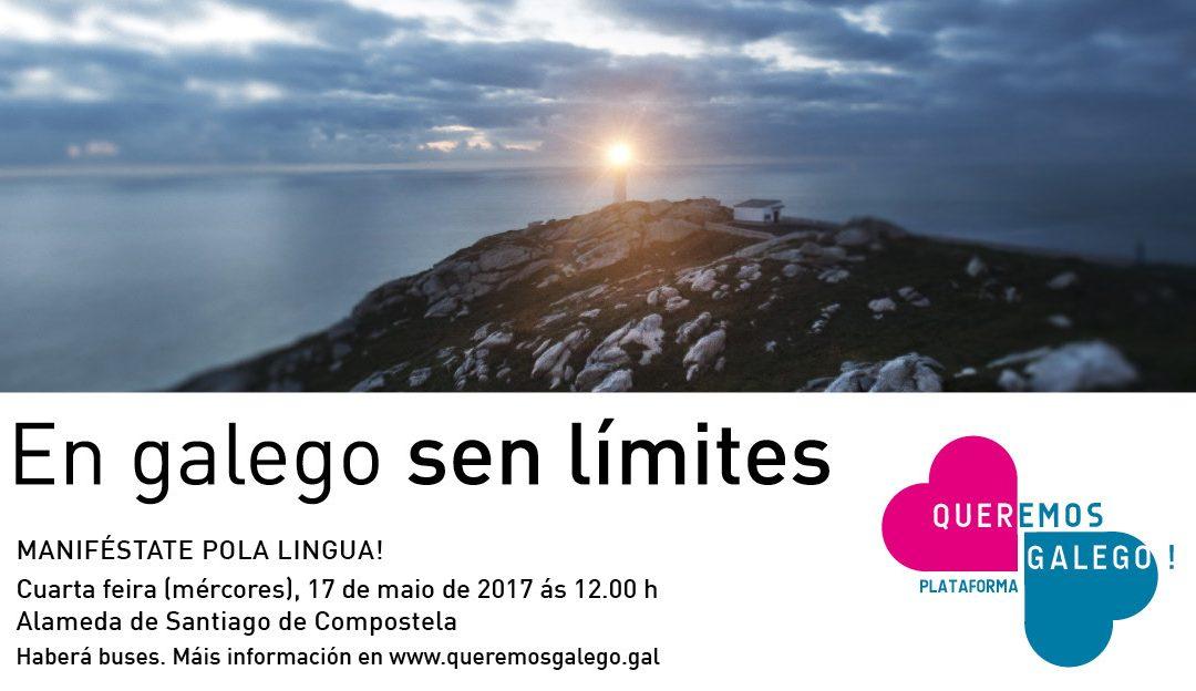 Queremos Galego convoca unha grande manifestación de unidade a favor da nosa lingua en Santiago o 17 de maio