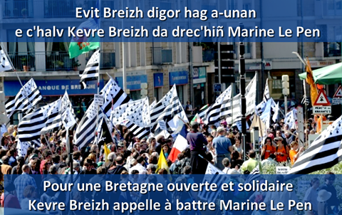 Evit Breizh digor hag a-unan e c'halv Kevre Breizh da drec'hiñ Marine Le Pen