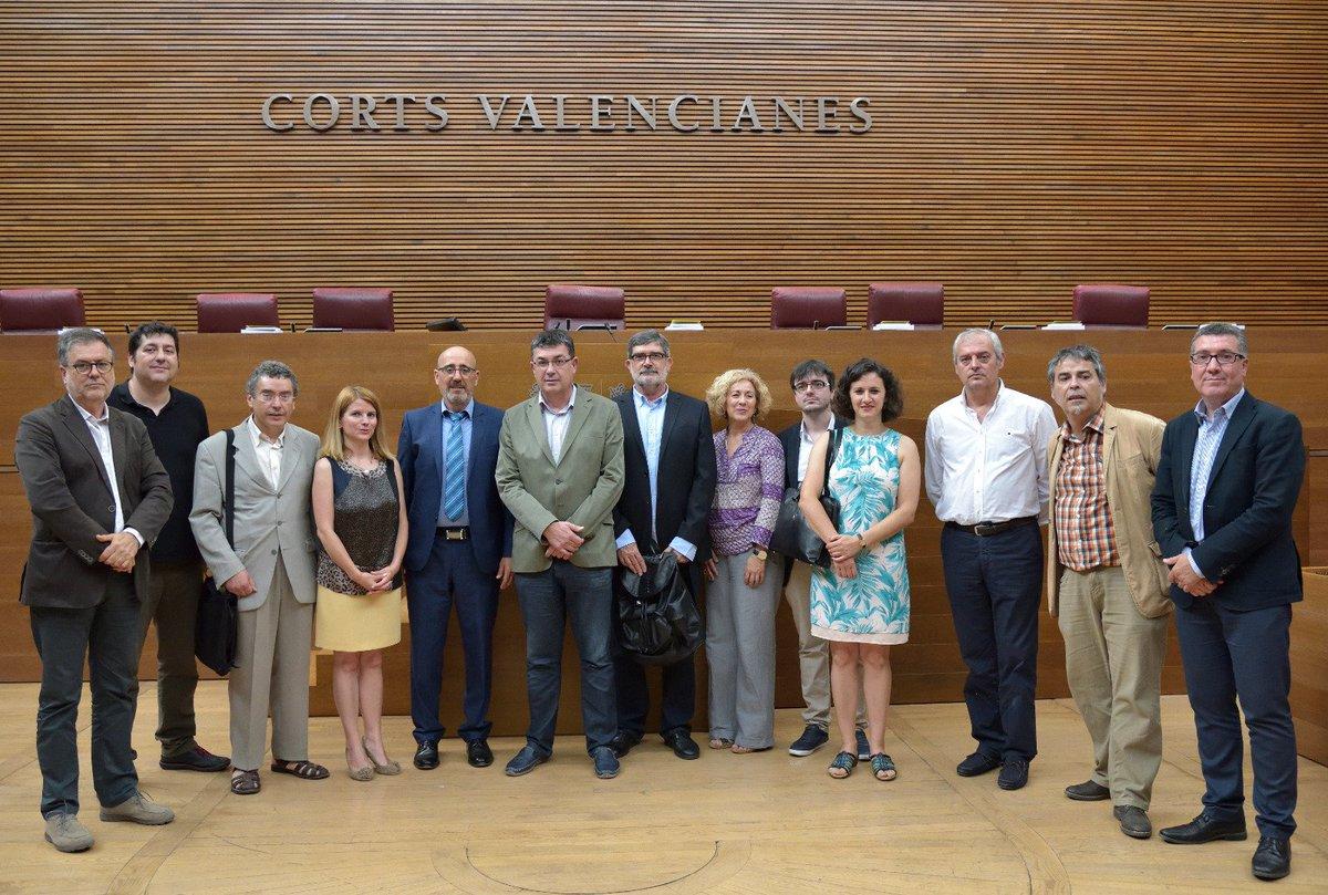 ELEN meet with Valencian Parliament President Enric Morera.