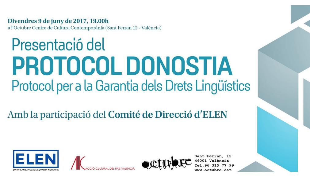 ELEN in Valencia: Donostia Protocol and ELEN's work in promoting and protecting minoritised languages