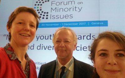 Kevre Breizh et ELEN, Réseau européen pour l'égalité des langues, au Forum des Minorités des Nations Unies