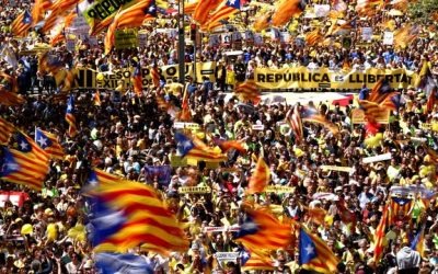 Catalonia: 750,000 march in Barcelona for Catalan rights, freedoms, democracy and cohesion.